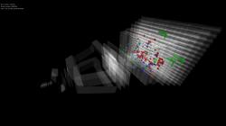 Rekordní srážka, tentokrát experiment LHCb. Kredit: LHCb / CERN