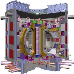 Vizualizace tokamaku ITER. Kredit: ITER