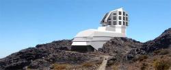 Budoucí teleskop Large Synoptic Survey Telescope. Kredit: LSST.
