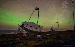 Gamateleskop MAGIC, Kanárské ostrovy. Kredit: Daniel López / Instituto de Astrofísica de Canarias.