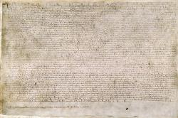 Magna Charta. Kredit: British Library / Wikimedia Commons.