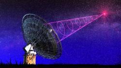 Rychlý rádiový záblesk. Kredit: Royal Astronomical Society.