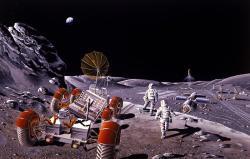 Začneme skolonizací Měsíce? Kredit: NASA / Dennis M. Davidson.
