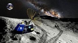 Přistávací modul MX-1 společnosti Moon Express. Kredit: Moon Express.