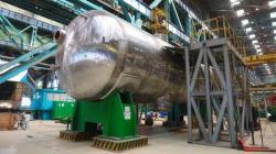 Parogenterátor pro budované reaktory VVER1200 v elektrárně Kursk II (Rosatom).