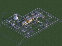 Schéma areálu reaktoru BREST-OD-300 (zdroj Rosatom).