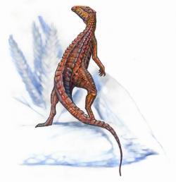 """Skutelosauři již byli """"obrnění"""" dinosauři, jejich tělesný kožní pancíř však ještě zdaleka nedosahoval úrovně vyspělosti brnění, kterým se honosili pozdější ankylosauři. Kredit: Pavel.Riha.CB, licence CC BY-SA 3.0 (Wikipedie)"""