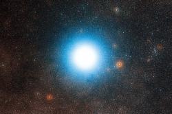 Doletí  naše oplatky kAlfa Centauri? Kredit: ESO / Digitized Sky Survey 2.