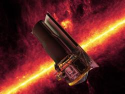 Vesmírný infradalekohled Spitzer. Kredit: NASA.