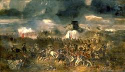 Bitva u Waterloo pod zamračenou oblohou. Kredit: Clément-Auguste Andrieux (1829–1880).
