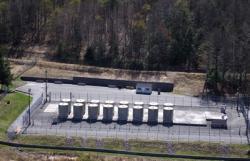 Suchý mezisklad, kde čeká vyhořelé palivo z Yankee Rowe na trvalé úložiště (zdroj Yankee Rowe).