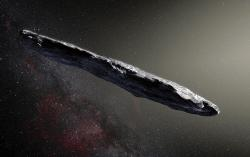 Mezihvězdný návštěvník 'Oumuamua. Kredit: ESO/M. Kornmesser.