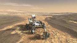 Vozítko Perserevance v uměleckých představách (zdroj NASA).