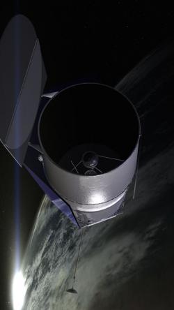 Představa teleskopu WFIRST-AFTA. Zdroj: http://gcd.larc.nasa.gov/