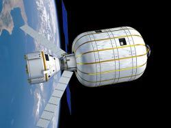 Vizualizace lodi Starliner připojené k modulu BA 330. Zdroj: http://spaceflightnow.com/