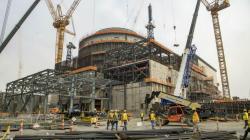 Stav projektu Vogtle 3 v červnu 2019 (zdroj Georgia Power).