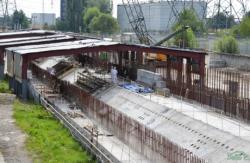 Práce na základech pro nový sarkofág (zdroj Černobylská jaderná elektrárna).