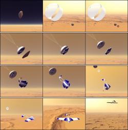 ARES od deorbitace až po let v atmosféře. zdroj: nasa.gov