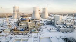 Budovaný druhý blok Leningradské jaderné elektrárny (zdroj Rosenergoatom).