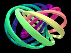 Vizualizace struktury kvantového uzlu. Kredit: David Hall.
