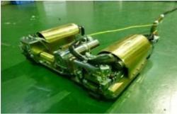Nový robot, který má v květnu začít studovat vnitří prostory kontejnmentu prvního bloku (zdroj TEPCO).