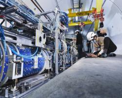 Instalace experimentu FASER (zdroj CERN).