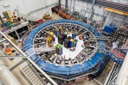 Magnetický shromažďovací prstenec experimentu Muon g-2 (foto Reidar Hahn, Fermilab).