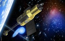 Japonská sonda Astro-H. Kredit: JAXA.