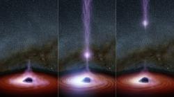Rekonstrukce události sodpálení korony v Markarian 335. Kredit: NASA / JPL-Caltech.