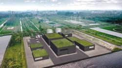 Představa elektrárny využívající malý modulární reaktor SSR firmy Moltex Energy (zdroj Moltex Energy).