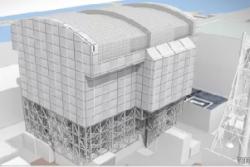 Projekt nového krytu prvního bloku (zdroj TEPCO).