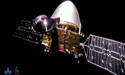 Selfie čínské sondy Tchien-wen-1, která letí k Marsu (zdroj CNSA).