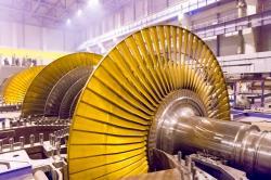 Turbína nových bloků VVER1200 v Leningradské jaderné elektrárně (zdroj power_m.ru).