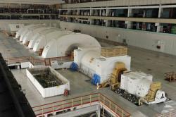 Turbogenerátor čtvrtého bloku Rostovské jaderné elektrárny (zdroj Rostovská jaderná elektrárna).