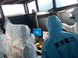 Velící stanoviště v budově druhého bloku (zdroj TEPCO).
