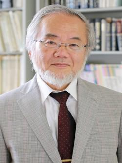 Jošinori Ósumi, 71 let. Kredit: Ministry of educations, culture, sports, science and technology, Japan.