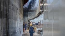 Stavba reaktoru VVER-TOI, který je blokem prvním blokem v druhé fázi Kurské jaderné elektrárny už značně pokročil (zdroj Rosatom).