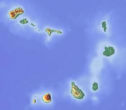 Kapverdy. Pico de Fogo vjižní části souostroví se nedá přehlédnout. Kredit: Dr Brains / Wikimedia Commons.