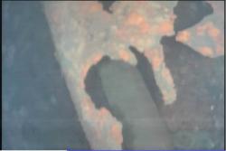 Jeden ze záběrů pořízených uvnitř kontejnmentu třetího reaktoru (zdroj TEPCO).