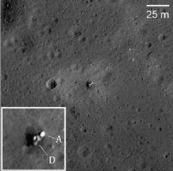 Místo přistání Luny 23 (zdroj M. S. Robinson et al.).