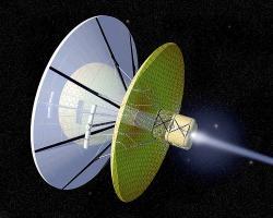 Bussardův ramjet, jeden zdalších navrhovaných mezihvězdných pohonů. Kredit: NASA.