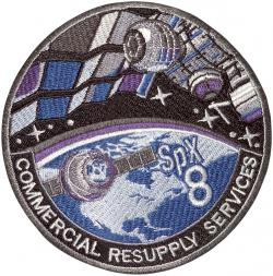 Logo mise CRS SpX-8 v podání NASA.  Zdroj: http://i.imgur.com/
