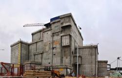 Přípravná část suchého meziskladu vyhořelého paliva z Černobylské jaderné elektrárny (zdroj Černobylská jaderná elektrárna).