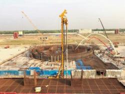 Betonáže jaderného ostrova u prvního bloku elektrárny Rooppur (zdroj Rosatom).