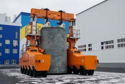 Budování suchého úložiště pro vyhořelé palivové soubory z ukrajinských elektráren VVER1000 (zdroj Energoatom).