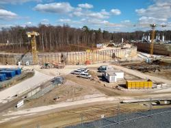 Na budování urychlovacího komplexu FAIR se intenzivně pracuje (zdroj Vladimír Wagner).