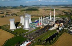 Nejmodernějším paroplynovým blokem v Česku jsou Počerady v areálu uhelné elektrárny (zdroj vizualizace ČEZ).