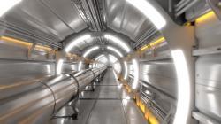 Vizualizace tunelu FCC. Courtesy CERN.
