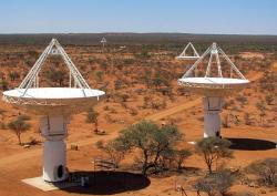 Australian Square Kilometre Array Pathfinder. Kredit: Ant Schinckel, CSIRO.