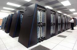 Superpočítač IBM Blue Gene/P. Blue Brain Project využívá podobný. Kredit: Argonne National Laboratory.